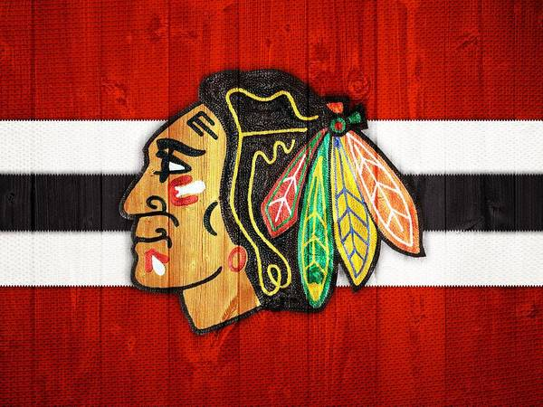 Wall Art - Digital Art - Chicago Blackhawks Barn Door by Dan Sproul