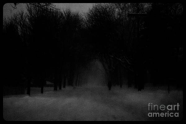 Photograph - Chicago Blizzard - Monochrome by Frank J Casella