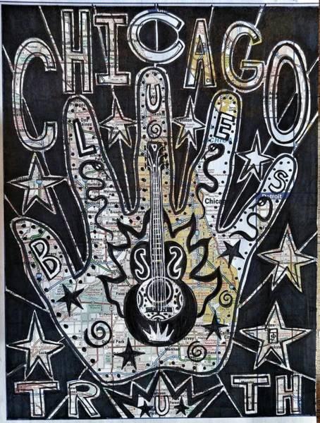 Illinois Drawing - Chicago Blues Truth by John Parish