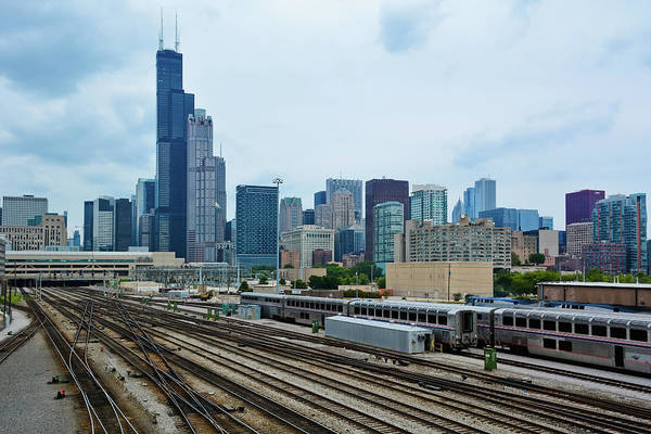 Photograph - Chicago Bnsf Railroad Yard  by Kyle Hanson