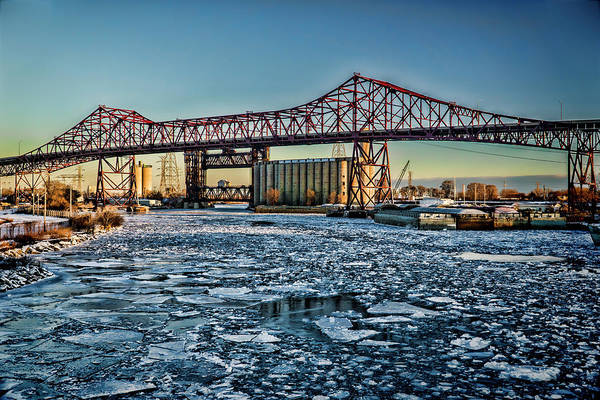 Photograph - Chicago Bridges Over The Calumet River by Sven Brogren