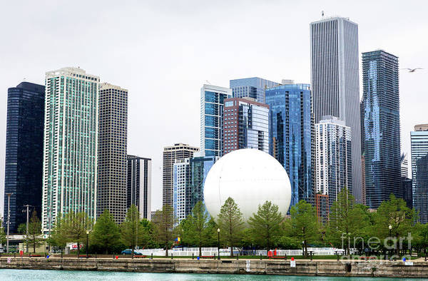 Photograph - Chicago Building Sizes by John Rizzuto