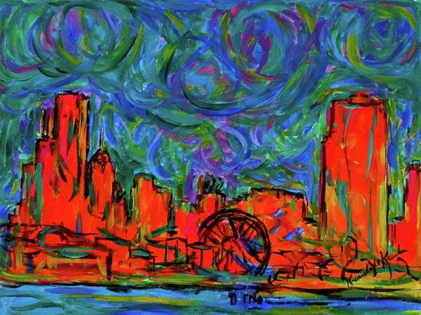 Painting - Chicago Burst by Kendall Kessler