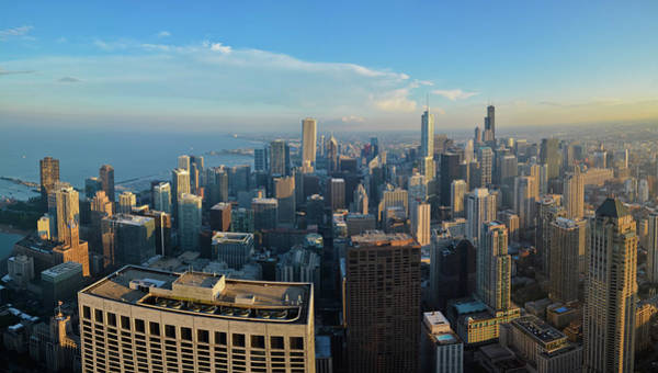Photograph - Chicago Cityscape Panorama by Kyle Hanson