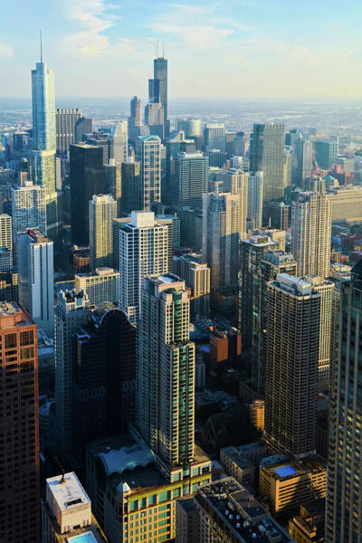 Photograph - Chicago Cityscape Portrait by Kyle Hanson