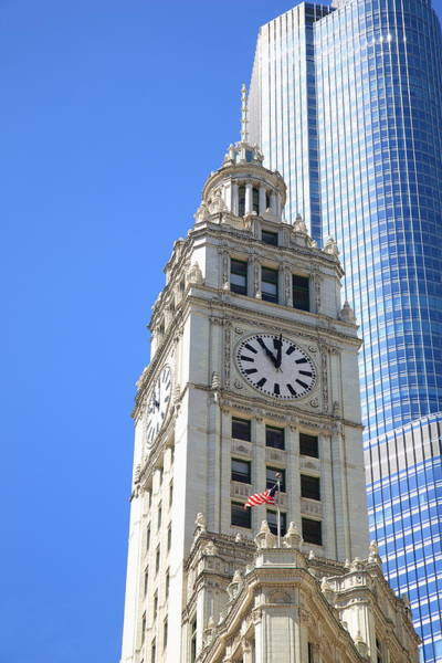 Photograph - Chicago Clock Tower by Frank Romeo