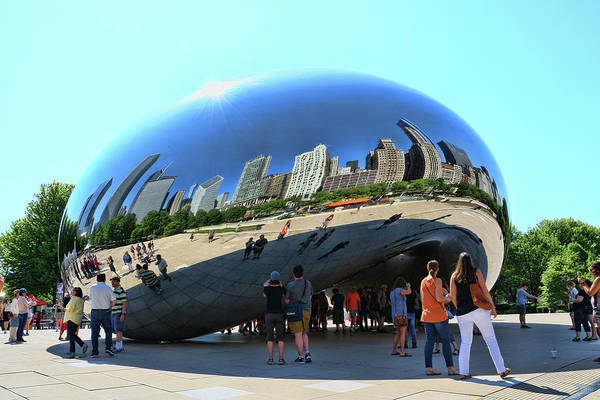 Photograph - Chicago Cloud Gate, A K A The Bean # 5 by Allen Beatty