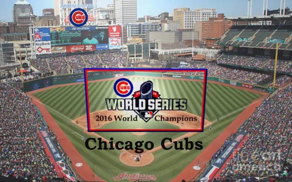 Chicago Cubs - 2016 World Series Champions Art Print