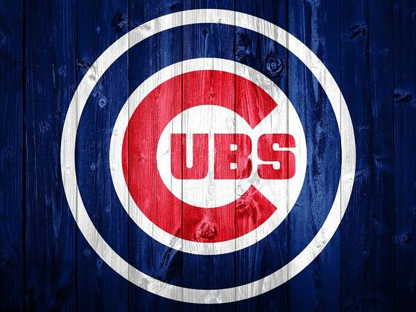 Wall Art - Mixed Media - Chicago Cubs Barn Door by Dan Sproul