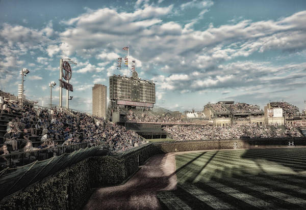 Jon Lester Photograph - Chicago Cubs Original Scoreboard 05 by Thomas Woolworth
