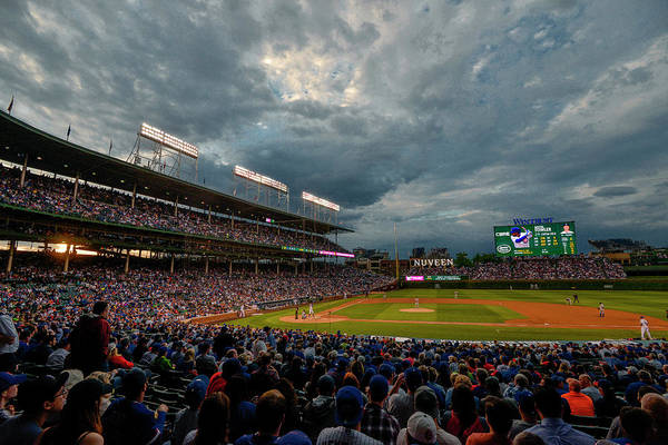 Photograph - Chicago Cubs Wrigley Field 2 8287 by David Haskett II