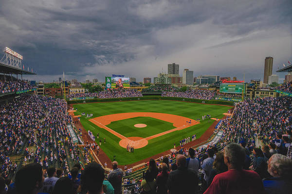 Photograph - Chicago Cubs Wrigley Field 4 8213 by David Haskett II