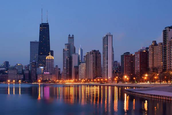 Skyline Drive Photograph - Chicago - Dawn - Cityscape  by Nikolyn McDonald