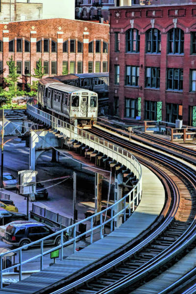Painting - Chicago El S-curve by Christopher Arndt