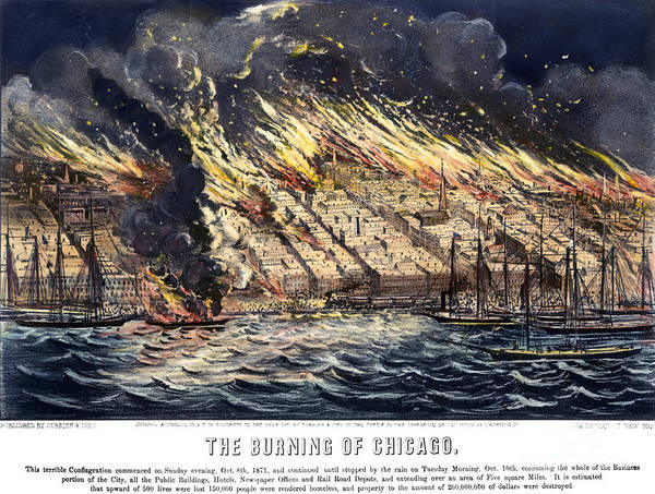 Nathaniel Photograph - Chicago: Fire, 1871 by Granger