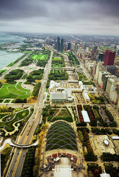 Michigan Ave Photograph - Chicago From Atop by Andrew Soundarajan