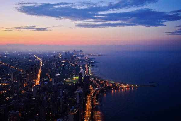Photograph - Chicago Gold Coast Night by Kyle Hanson