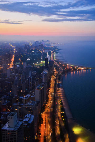 Photograph - Chicago Gold Coast Night Portrait by Kyle Hanson
