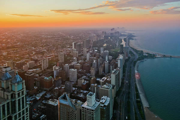 Photograph - Chicago Gold Coast Sunset by Kyle Hanson