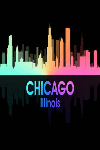 Wall Art - Digital Art - Chicago Il 5 Vertical by Angelina Tamez