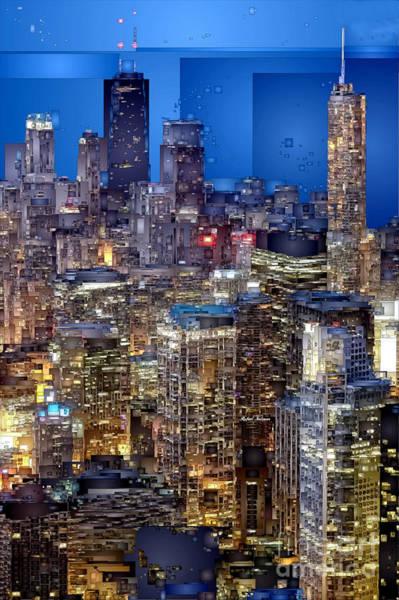 Digital Art - Chicago. Illinois by Rafael Salazar