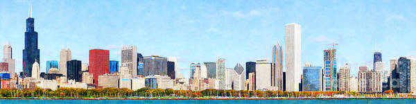 Photograph - Chicago Illinois Skyline Painterly 20180516 by Wingsdomain Art and Photography