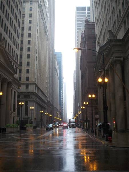 Photograph - Chicago In The Rain 2 by Anita Burgermeister