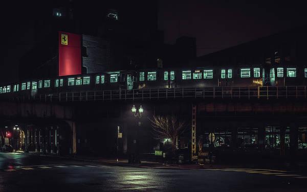 Photograph - Chicago L At Night by Nisah Cheatham