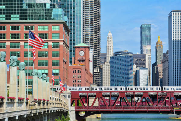Photograph - Chicago L Skyline by Kyle Hanson