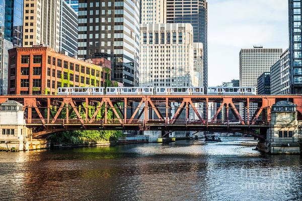 Wall Art - Photograph - Chicago Lake Street Bridge L Train by Paul Velgos