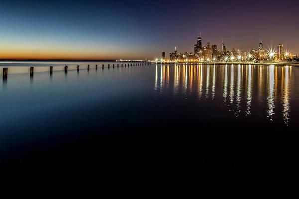 Photograph - Chicago Lakefront Scene At Dawn  by Sven Brogren