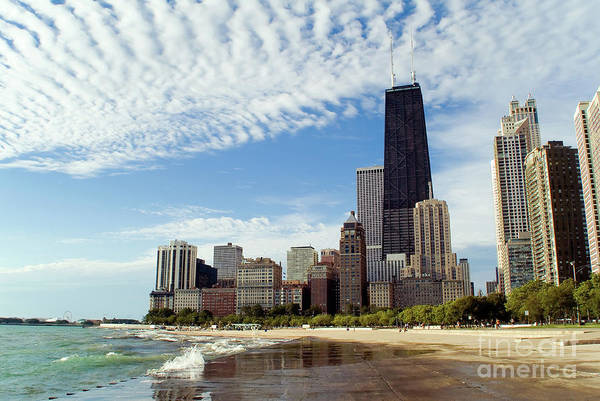 Beach City Wall Art - Photograph - Chicago Lakefront Skyline by Bruno Passigatti