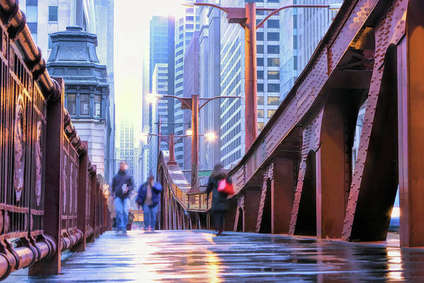 Painting - Chicago Lasalle Street Bridge by Christopher Arndt