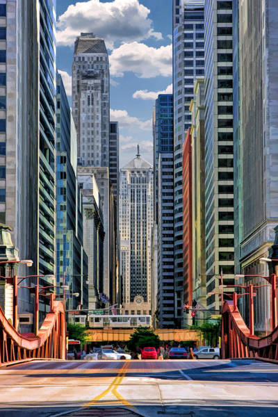Tall Buildings Painting - Chicago Lasalle Street by Christopher Arndt