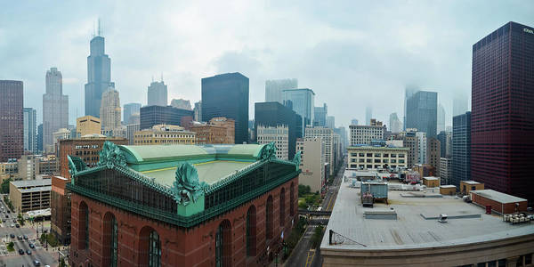 Photograph - Chicago Library Panorama by Kyle Hanson