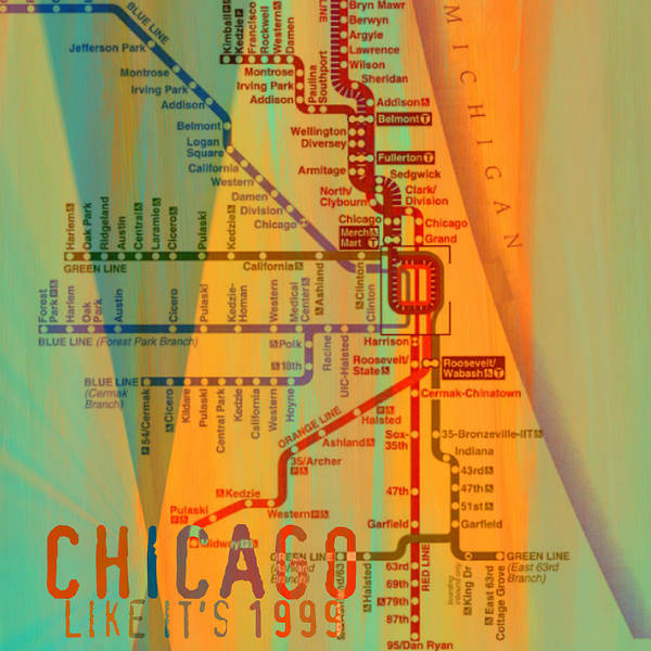 Wall Art - Digital Art - Chicago Like It's 1999 by Brandi Fitzgerald