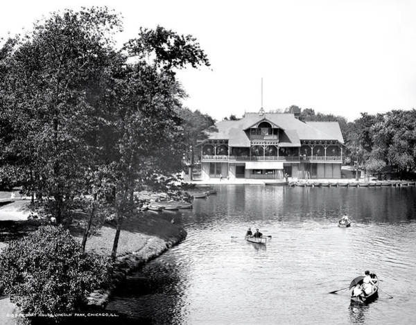 Wall Art - Photograph - Chicago Lincoln Park Boathouse 1905 by Daniel Hagerman