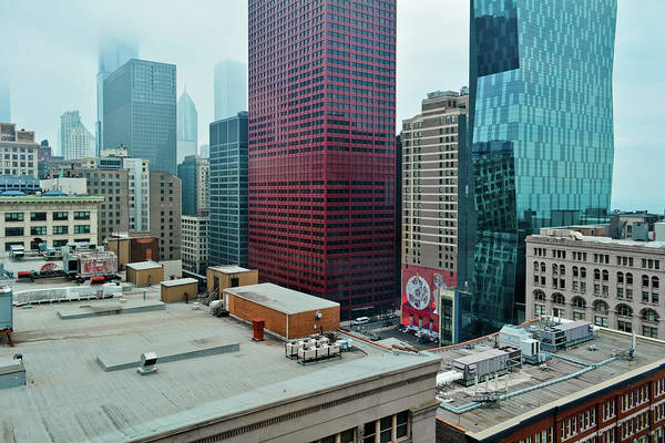 Photograph - Chicago Loop Fog by Kyle Hanson