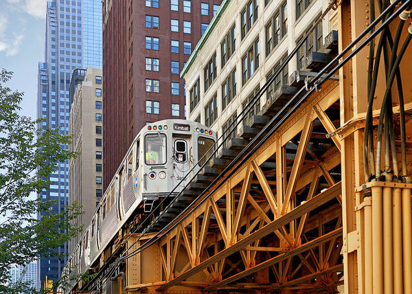 Wall Art - Photograph - Chicago Loop 'l' by Christine Till