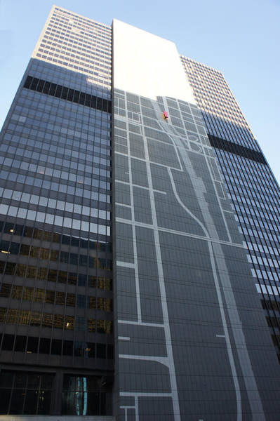 Sliver Photograph - Chicago Map Mural On Office Building by Art Spectrum