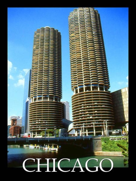 Photograph - Chicago Poster - Marina City by Peter Potter