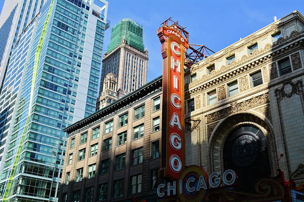 Photograph - Chicago Marquee by Kyle Hanson