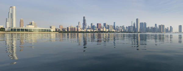 Wall Art - Photograph - Chicago Morning Panorama by Donald Schwartz
