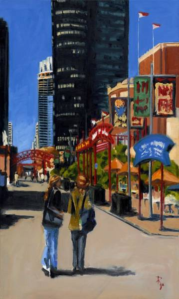 Painting - Chicago - Navy Pier by Robert Reeves