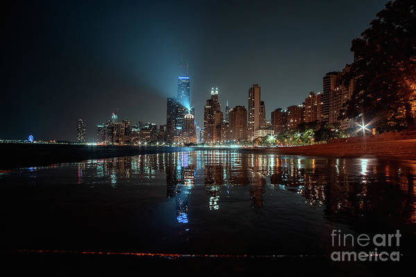 Wall Art - Photograph - Chicago Night by Bruno Passigatti