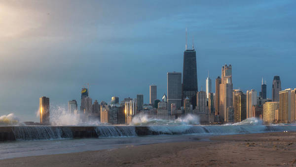Wall Art - Photograph - Chicago North Avenue Beach View by Donald Schwartz
