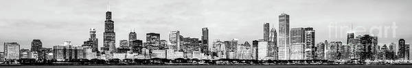 Wall Art - Photograph - Chicago Panorama High Resolution Black And White Photo by Paul Velgos