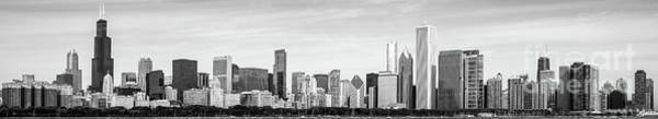 Wall Art - Photograph - Chicago Panorama Skyline High Resolution Black And White Photo by Paul Velgos