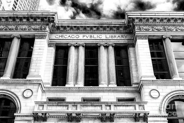 Photograph - Chicago Public Library Profile by John Rizzuto