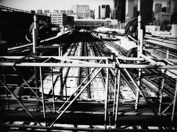 Art Print featuring the photograph Chicago Railroad Yard by Kyle Hanson